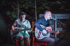 Grimus singing at Backyard Acoustic Season, July Photo by Naluca Alternative Rock Bands, Acoustic, Singing, Backyard, Seasons, Bags, Fashion, Handbags, Moda
