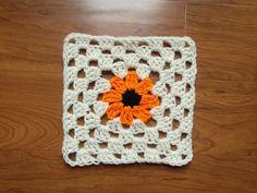 Krasnoludkowe bazgrołki (brownie doodles?): Black Eyed Susan Granny Square Pattern.