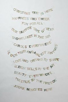 i love this christmastime is here garland from anthro made of vintage wallpaper - Charlie Brown Christmas Song Lyrics