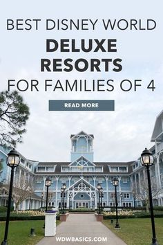 Best Disney World Deluxe Resorts for Families of 4 // WDW Basics // This clear and concise guide to the best Disney World deluxe resorts for families of 4 with school age kids will help you select your next Disney hotel. // PIN THIS and TAP TO READ #disneyhotels #disneyresorts