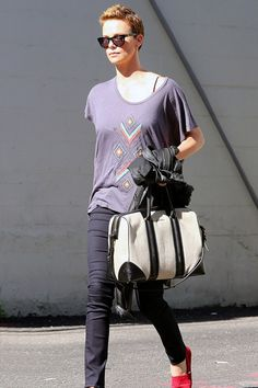Charlize Theron on the street in LA - Celebrity Fashion