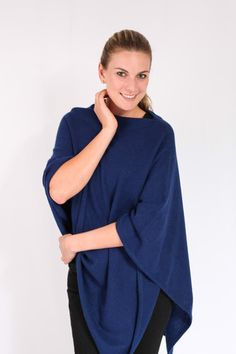 American Navy 100% Cashmere Poncho in South Africa – Pebble&Jack