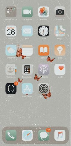 Iphone Home Screen Layout, Iphone App Layout, Wallpaper App, Iphone Background Wallpaper, Wallpapers, Organize Apps On Iphone, Minimalist Phone, Settings App, App Covers