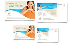 pages postcard template