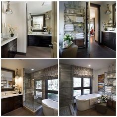 This might help you figure out the layout of the HGTV Dream Home master bathroom - there are actually two vanities! Step through the door and take another look around! #hgtvdreamhome