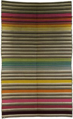 Textiles studio of the Bauhaus Dessau; Two-ply cloth with weft filling; 195 cm, b. 1929 by Knoxville Museum of Art, Weaving Textiles, Textile Fabrics, Textile Patterns, Textile Design, Color Patterns, Print Patterns, Art Nouveau, Bauhaus Textiles, Bauhaus Design