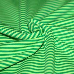 Baumwolljersey Streifen 3mm Grün Lime