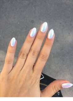 simple summer nails colors designs 2019 – page 17 - Summer Nail Colors Ideen White Chrome Nails, White Nails, White Summer Nails, White Polish, White Sparkle Nails, Summer Nails Almond, New Nail Designs, Colorful Nail Designs, Art Designs