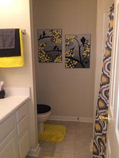 68 Ideas bath room black diy projects for 2019 diy bath Blue White Bathrooms, Black Bathroom Sets, Yellow Bathroom Decor, Half Bathroom Decor, Silver Bathroom, Bathroom Red, Bathroom Interior Design, Small Bathroom, Bathroom Ideas