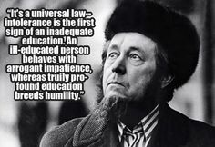 Education breeds humility