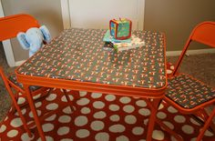 Vintage Children's Table & Chairs. Fab Furniture Flipping Contest, painted furniture, spraypaint
