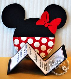 Custom Red and White Polka Dot Minnie Mouse Invitations, ADORABLE!