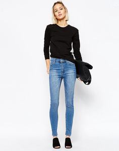 Image 4 ofCheap Monday Second Skin High Waist Skinny Jeans