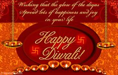"""""""Wishing that the glow of the diyas spread lots of happiness and joy in your life. Happy Diwali!"""" Express your warm wish to your loved ones with this elegant Diwali card showing diyas. Wish for eternal love, peace and happiness on this Diwali for all those who are close to your heart."""