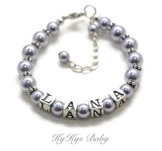 Growth Chain Lily Brooke Childs Personalized Sterling Silver January Birthday Charm Bracelet 5.5 Inches Baby /& Child Sizes
