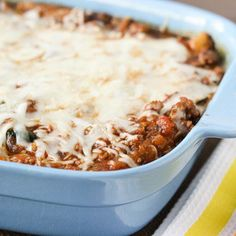 Skinny Mom recipe for Skinny Spaghetti Squash and Meat Sauce. tender spaghetti squash serves as a substitute for pasta and lean meatballs make this a healthy and delicious recipe.