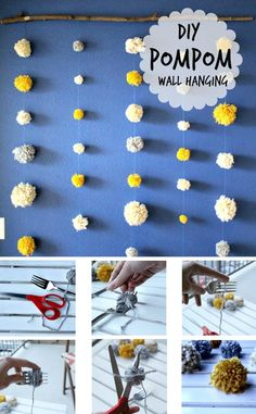 DIY Pompom Wall Hang