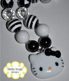 Hello Kitty Bling Children's Chunky Bubblegum Bead by DaizyBugz, $15.50