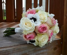 Pink roses and anemone bouquet