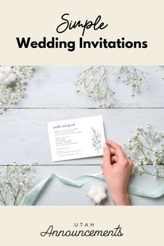 Keep it classy and simple with this wedding invitation. The plain design is elevated by an elegant play on typography and illustrated floral elements. Wedding Invitation Trends, Typography Wedding Invitations, Wedding Logos, Simple Wedding Invitations, Monogram Wedding, Wedding Stationery, Bride Look, Boho Bride, Boho Wedding