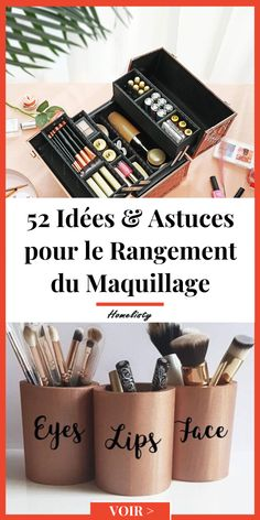 Bo/îte de Rangement cosm/étique /à Quatre Couches Peut /être tourn/ée 360 degr/és r/églable Maquillage Maquillage Oh pr/ésentoir