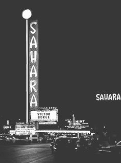 Sahara Hotel neon sign, 1952 Las Vegas Strip