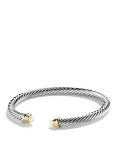 David Yurman Cable Classics Bracelet with Pearls and Gold | Bloomingdale's