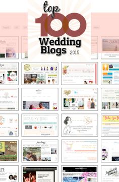 Top 100 Wedding Blogs for 2015 http://www.weddingblogs100.com/