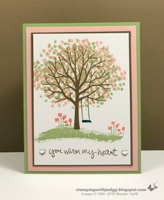 Think Spring was the theme of this month's Stampers Dozen Blog Hop. Stamp Pad, Creative Cards, Anniversary Cards, Stampin Up Cards, Your Cards, Card Making, Paper Crafts, Spring, Blog