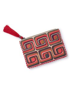 Genoa Embroidered Pouch AM232 Handbags, Clutches & Wallets at Boden