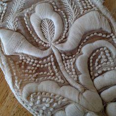 Extremely Dense Edwardian Couched Embroidery Dress Bottom #edwardian #embroidery #antique #antiquetextile by jamiexmasjamiexmas