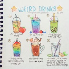 Inktober # 5 - which drink do you want? (⁎⁍̴̛ᴗ⁍̴̛⁎) Every time I see Thanos I think of bubble tea because imo he kinda looks like a giant peeled taro with grill marks. ——- 你们最想喝哪个?这个笑话不好翻译(´°̥̥̥̥̥̥̥̥ω°̥̥̥̥̥̥̥̥`) Cute Food Drawings, Cute Kawaii Drawings, Cute Animal Drawings, Easy Drawings, Cute Food Art, Cute Art, Bubble Tea, Griffonnages Kawaii, Doodle Art For Beginners