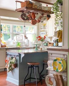 Happy Saturday! My kitchen is still dressed in its spring decor in anticipation of a photo shoot this coming week but I am looking forward… Wire Baskets, Tiny Living, 1940s Kitchen, House Rooms, Kitchen Design, Kitchen Decor, Kitchen Ideas, Elements Of Design, Kitchen Accessories