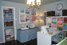 I love looking at how other sewers organize their sewing rooms!