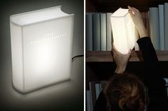 There have been plenty of books written about 'The Enlightenment' over the years, but it takes a truly gifted mind to realize the word 'enlightenment' includes the word 'light.' And it takes a whole other level of genius to turn that realization into a clever pun-inspired lamp.