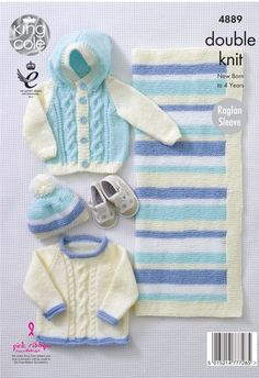 408665054 Jacket and Sweater in Hayfield Baby Chunky - 4452