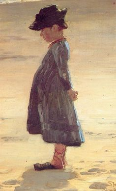 Peder Severin Krøyer - Danish painter, 1851-1909. Niña en la playa