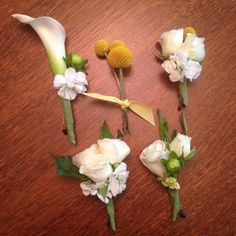 Sweet spring bouts and corsages #stemsflowermarket #kcweddingflorist #mayweddings #springweddings