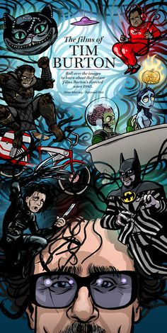 Tim Burton movie. Batman in the Beetlejuice suit is a nice touch!