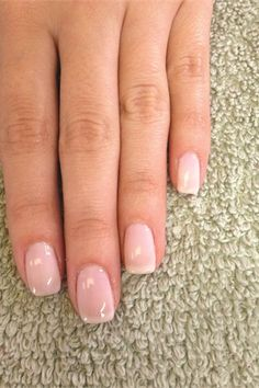 Shellac Romantique..my wedding day nails au natural all the way :)