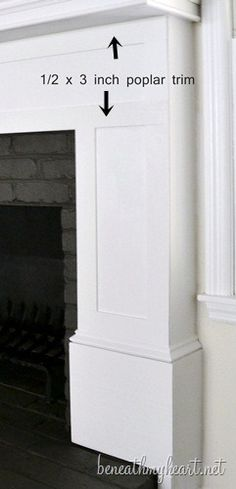 Cover brick fireplace