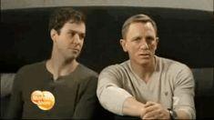 Because Daniel Craig eating a cupcake.