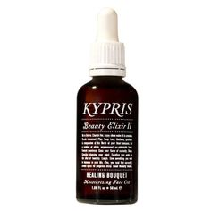KYPRIS Beauty Elixir II - Healing Bouquet works to calm, soothe, and inspire radiant, supple skin. Especially beneficial for essential oil lovers with combination or inflamed, fussy skin due to blemishes or over exposure to the environment.