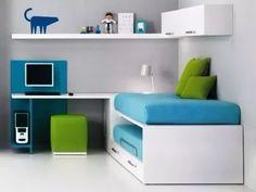 cama juvenil 1 plz. margot + escritorio + modulo alto