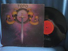 Vintage Toto   S/T Debut Vinyl LP Record Album by sweetleafvinyl, $4.99
