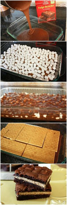 Inside Out S'mores Bars | CookJino
