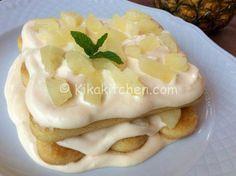 Il tiramisù all'ananas è la versione estiva del classico tiramisù al caffè. Un dolce alla frutta, fresco e dal sapore delicato.