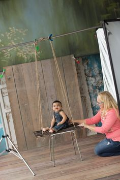 Just a Swingin' photography swing prop by www.designrevolutiononline.com  LOVE THIS!!! Then just composite with another shot of the plain backdrop!  Voila!