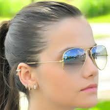 72e7414745db4 Óculos azul dourado Ray-ban unissex.