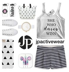"""JP Activewear"" by mahafromkailash ❤ liked on Polyvore featuring J.Crew, Tommy Hilfiger, River Island and Converse"